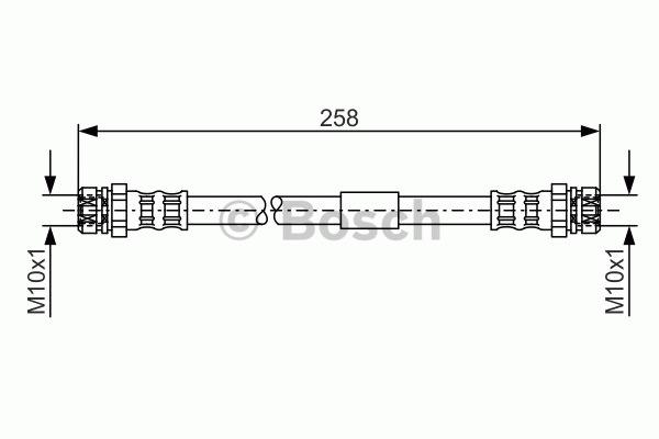 Flexible de frein - BOSCH - 1 987 481 369