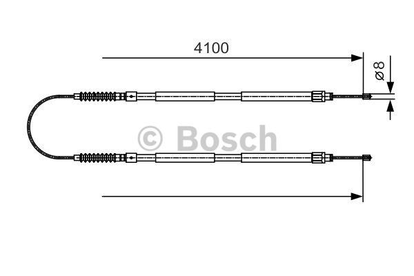 Tirette à câble, frein de stationnement - BOSCH - 1 987 482 005