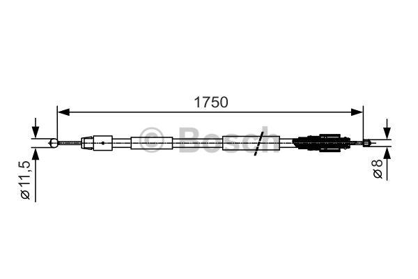 Tirette à câble, frein de stationnement - BOSCH - 1 987 482 018