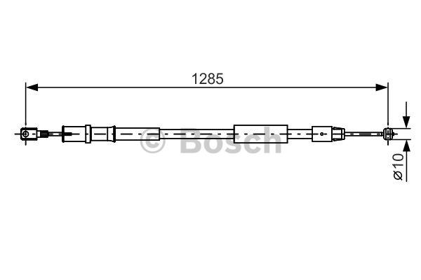 Tirette à câble, frein de stationnement - BOSCH - 1 987 482 026