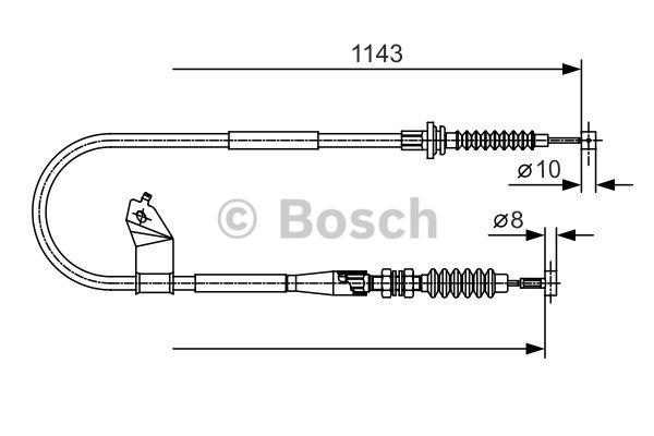 Tirette à câble, frein de stationnement - BOSCH - 1 987 482 055