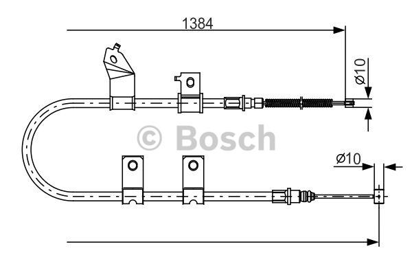 Tirette à câble, frein de stationnement - BOSCH - 1 987 482 082