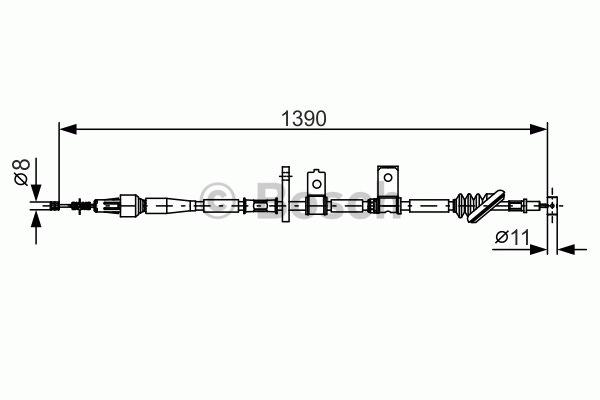 Tirette à câble, frein de stationnement - BOSCH - 1 987 482 090