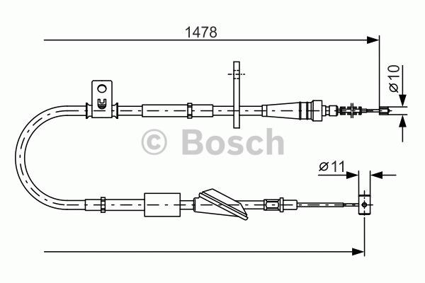 Tirette à câble, frein de stationnement - BOSCH - 1 987 482 096