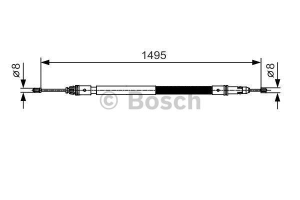 Tirette à câble, frein de stationnement - BOSCH - 1 987 482 118