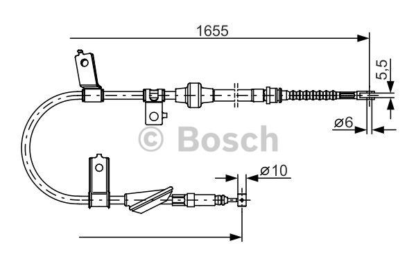 Tirette à câble, frein de stationnement - BOSCH - 1 987 482 119
