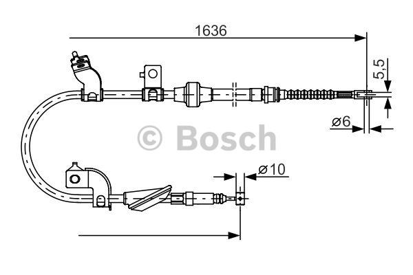 Tirette à câble, frein de stationnement - BOSCH - 1 987 482 120