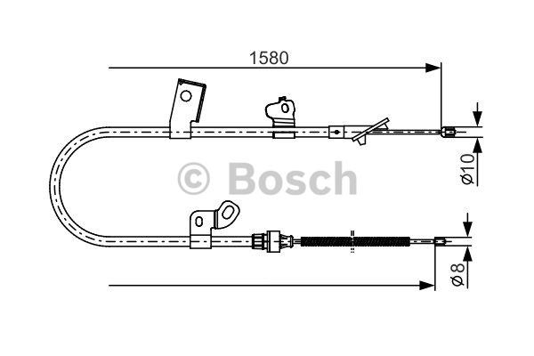 Tirette à câble, frein de stationnement - BOSCH - 1 987 482 155