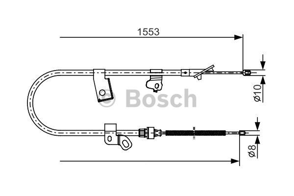 Tirette à câble, frein de stationnement - BOSCH - 1 987 482 156