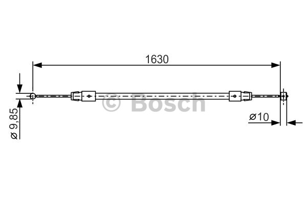 Tirette à câble, frein de stationnement - BOSCH - 1 987 482 187