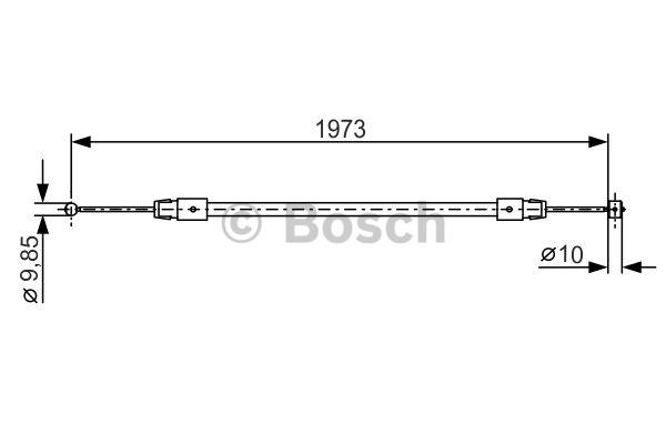 Tirette à câble, frein de stationnement - BOSCH - 1 987 482 192