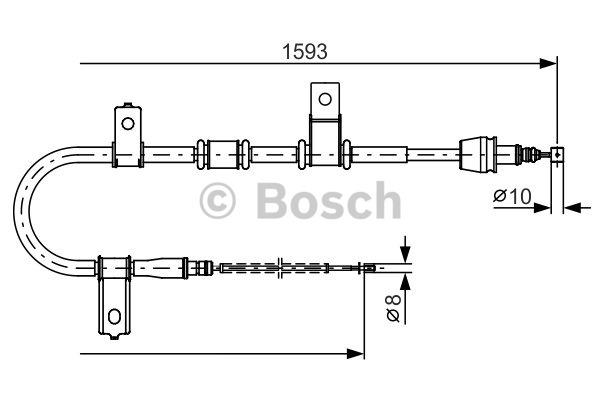 Tirette à câble, frein de stationnement - BOSCH - 1 987 482 224