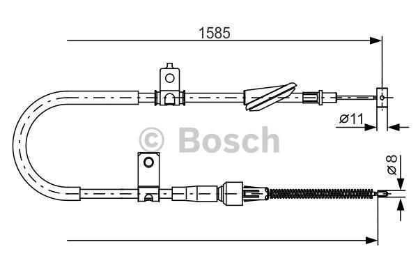 Tirette à câble, frein de stationnement - BOSCH - 1 987 482 257