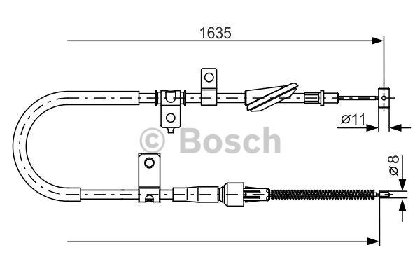 Tirette à câble, frein de stationnement - BOSCH - 1 987 482 258