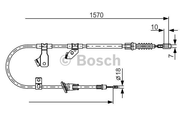 Tirette à câble, frein de stationnement - BOSCH - 1 987 482 272