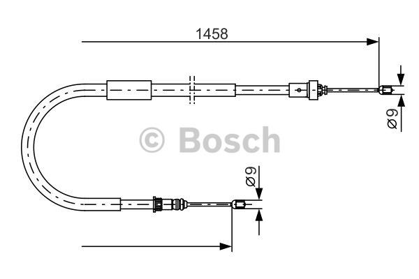 Tirette à câble, frein de stationnement - BOSCH - 1 987 482 335