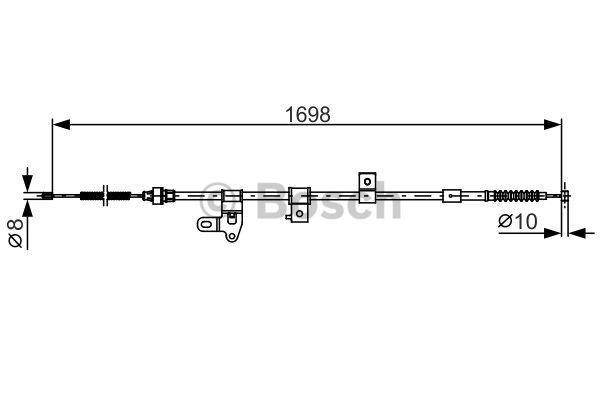 Tirette à câble, frein de stationnement - BOSCH - 1 987 482 346