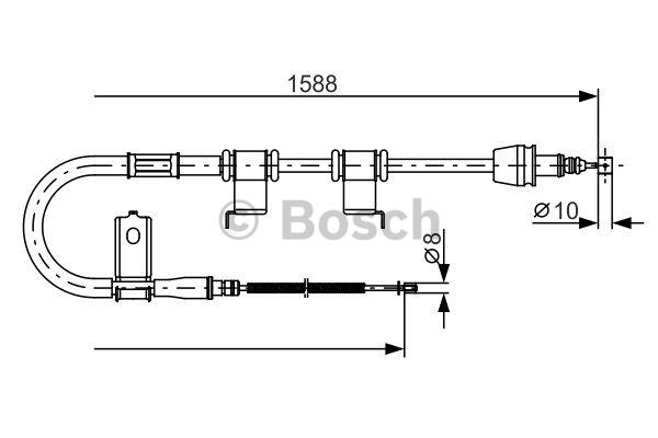 Tirette à câble, frein de stationnement - BOSCH - 1 987 482 359