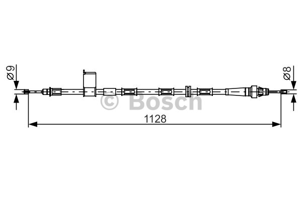 Tirette à câble, frein de stationnement - BOSCH - 1 987 482 363