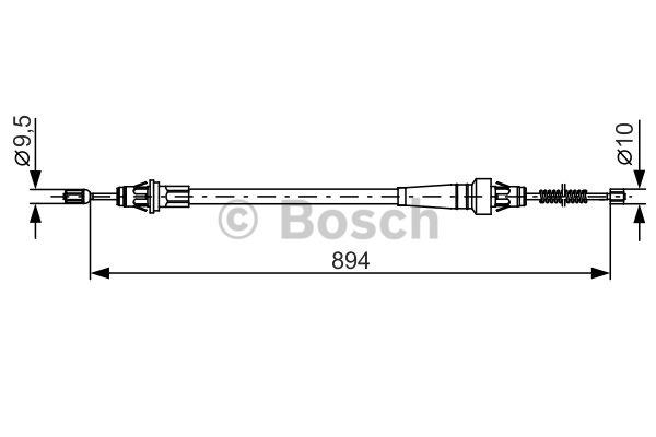 Tirette à câble, frein de stationnement - BOSCH - 1 987 482 365