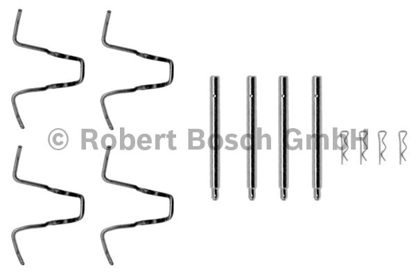Kit d'accessoires, plaquette de frein à disque - BOSCH - 1 987 474 056