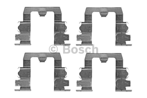 Kit d'accessoires, plaquette de frein à disque - BOSCH - 1 987 474 153