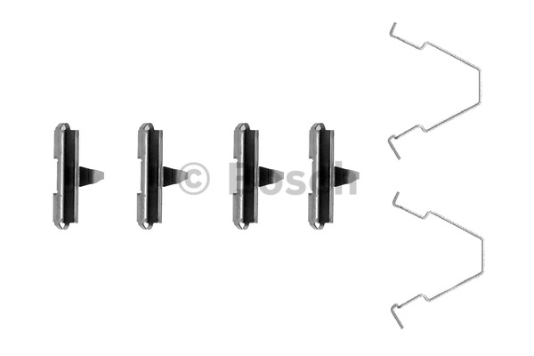 Kit d'accessoires, plaquette de frein à disque - BOSCH - 1 987 474 280