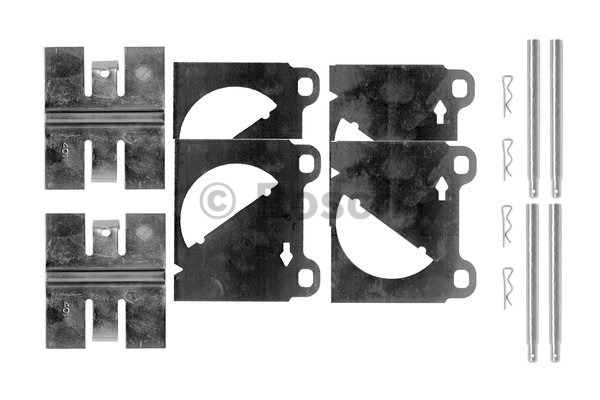 Kit d'accessoires, plaquette de frein à disque - BOSCH - 1 987 474 345
