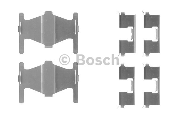 Kit d'accessoires, plaquette de frein à disque - BOSCH - 1 987 474 367