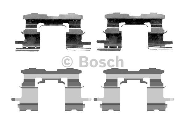 Kit d'accessoires, plaquette de frein à disque - BOSCH - 1 987 474 407