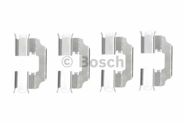 Kit d'accessoires, plaquette de frein à disque - BOSCH - 1 987 474 478