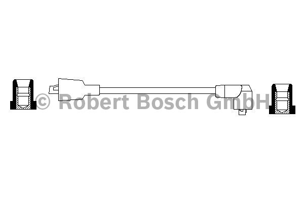 Faisceau d'allumage - BOSCH - 0 986 356 046