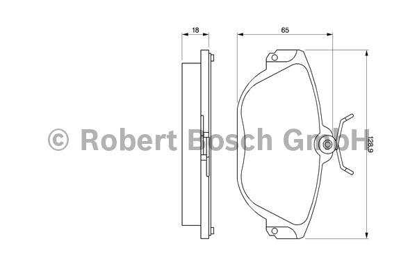 Kit de plaquettes de frein, frein à disque - BOSCH - 0 986 424 016