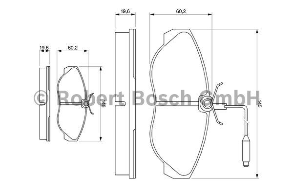 Kit de plaquettes de frein, frein à disque - BOSCH - 0 986 424 030