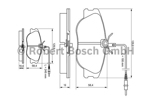 Kit de plaquettes de frein, frein à disque - BOSCH - 0 986 424 033