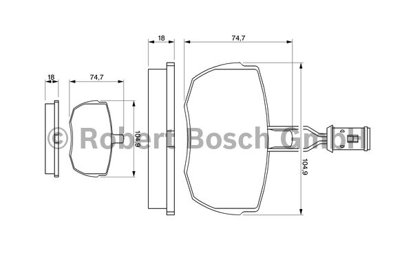 Kit de plaquettes de frein, frein à disque - BOSCH - 0 986 424 044