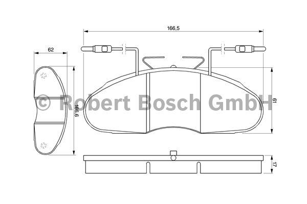 Kit de plaquettes de frein, frein à disque - BOSCH - 0 986 424 080