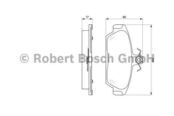 Kit de plaquettes de frein, frein à disque - BOSCH - 0 986 424 092