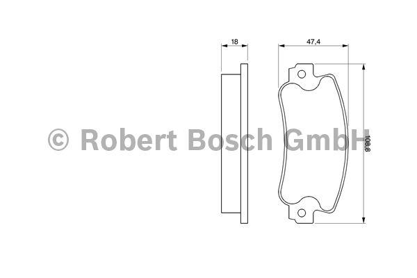 Kit de plaquettes de frein, frein à disque - BOSCH - 0 986 424 098