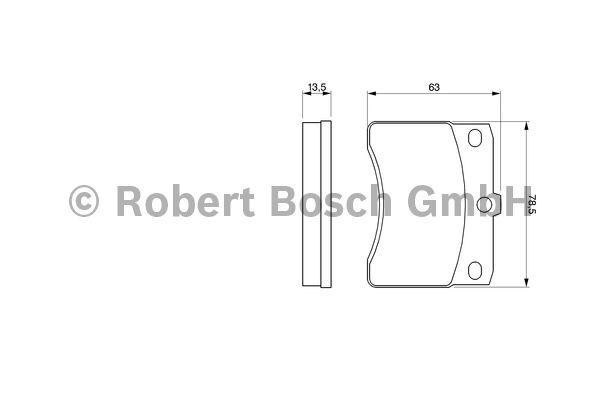 Kit de plaquettes de frein, frein à disque - BOSCH - 0 986 424 099