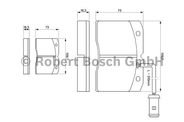 Kit de plaquettes de frein, frein à disque - BOSCH - 0 986 424 144