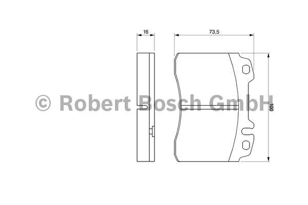 Kit de plaquettes de frein, frein à disque - BOSCH - 0 986 424 170