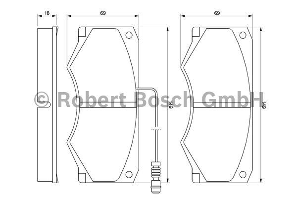 Kit de plaquettes de frein, frein à disque - BOSCH - 0 986 424 176