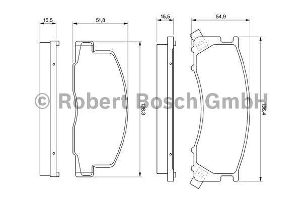 Kit de plaquettes de frein, frein à disque - BOSCH - 0 986 424 183