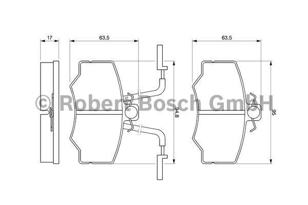 Kit de plaquettes de frein, frein à disque - BOSCH - 0 986 424 184