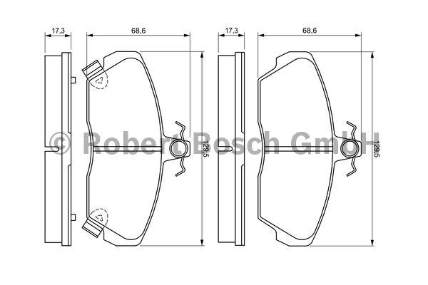 Kit de plaquettes de frein, frein à disque - BOSCH - 0 986 424 214