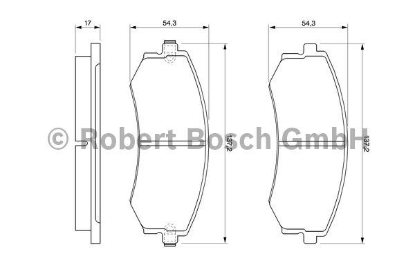 Kit de plaquettes de frein, frein à disque - BOSCH - 0 986 424 215