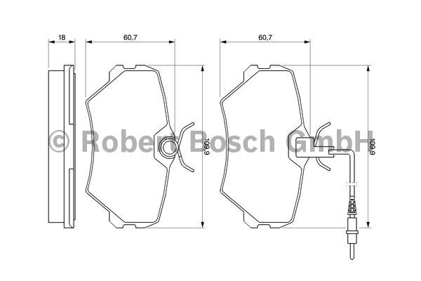 Kit de plaquettes de frein, frein à disque - BOSCH - 0 986 424 217