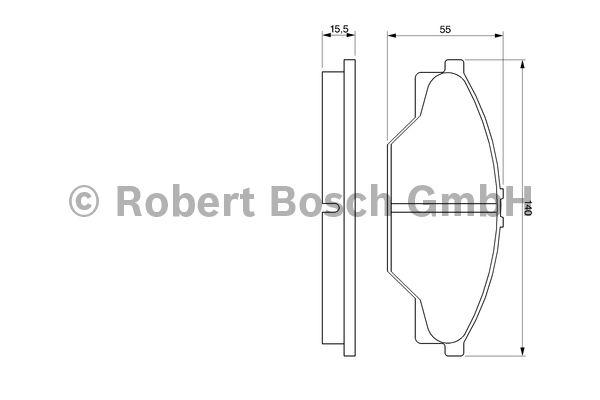 Kit de plaquettes de frein, frein à disque - BOSCH - 0 986 424 225