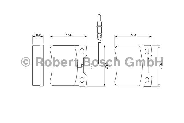 Kit de plaquettes de frein, frein à disque - BOSCH - 0 986 494 000